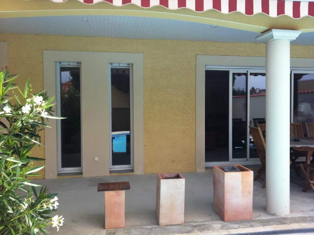 Réalisation baie coulissante en PVC et fenêtre en PVC