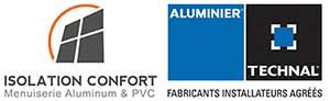 Technal - Partenaire d'Isolation Confort, fournisseur de profilés aluminium destiné à la réalisation de baies coulissantes aluminium