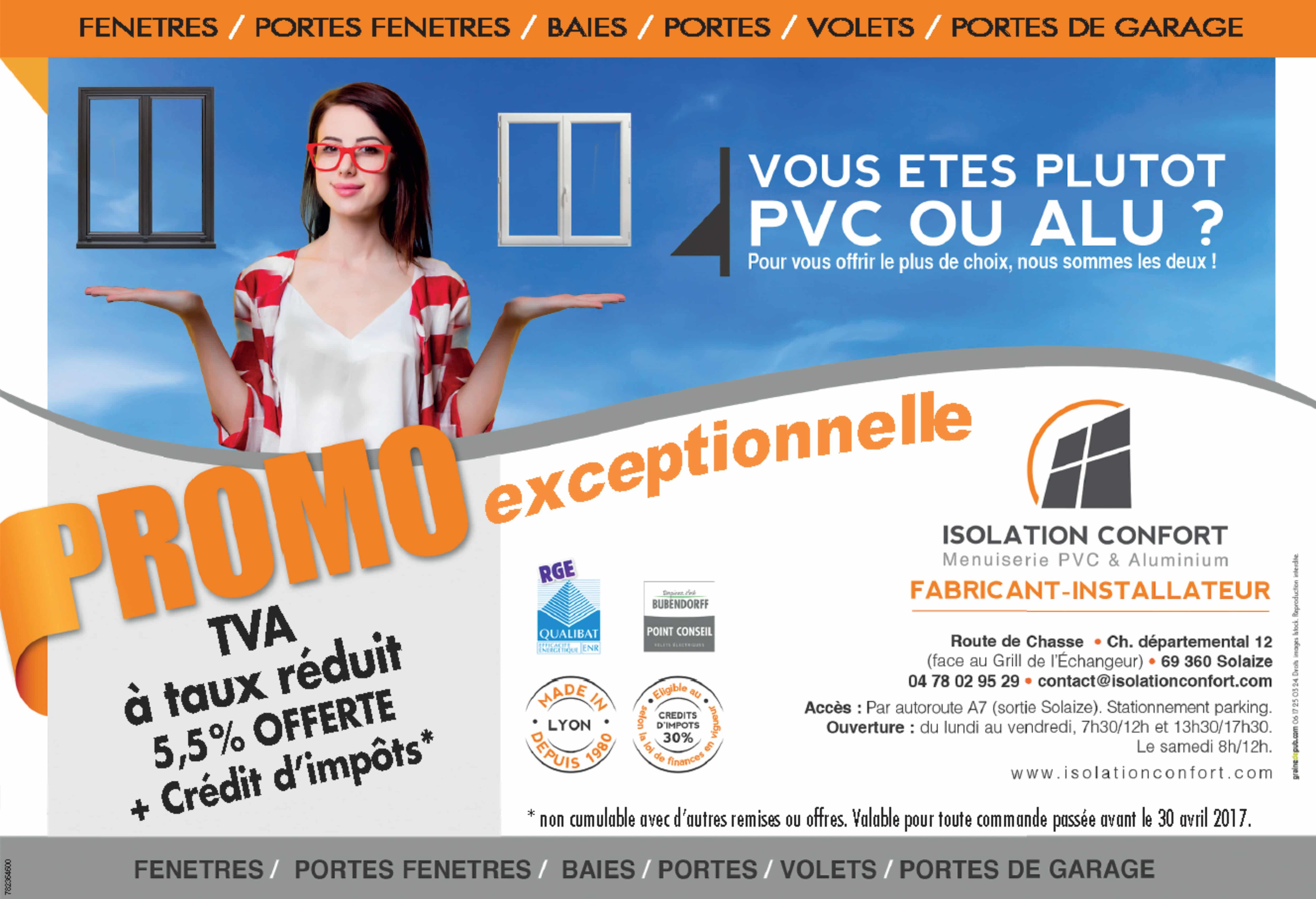 Promo exceptionnelle - TVA à taux réduit et crédit d'impôts sur vos menuiseries