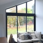 Baie vitrée aluminium noire