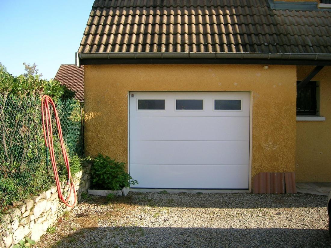 Réalisation porte de garage avec vitres
