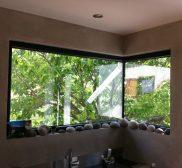 Réalisation fenêtre en aluminium noir