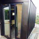Réalisation portes d'entrée en aluminium