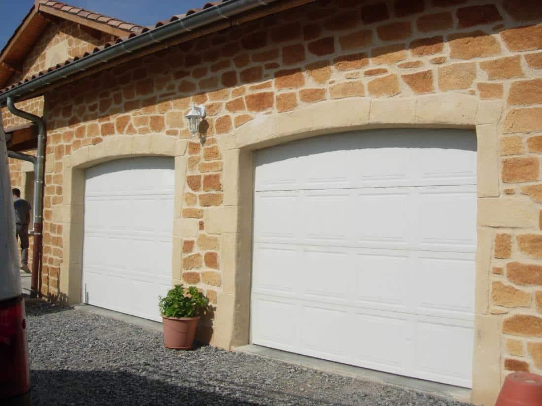 Réalisation double porte de garage