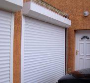 Réalisaiton porte de garage volet roulant