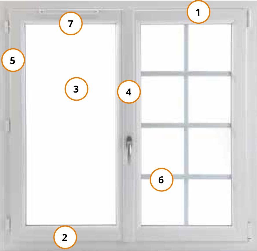 Schéma de conception d'une fenêtre PVC
